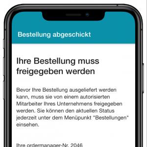odermanager - App Bestellungen freigeben