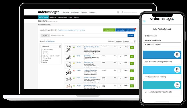 ordermanager - Einfache Bestell- abwicklung für Ihre Business Kunden