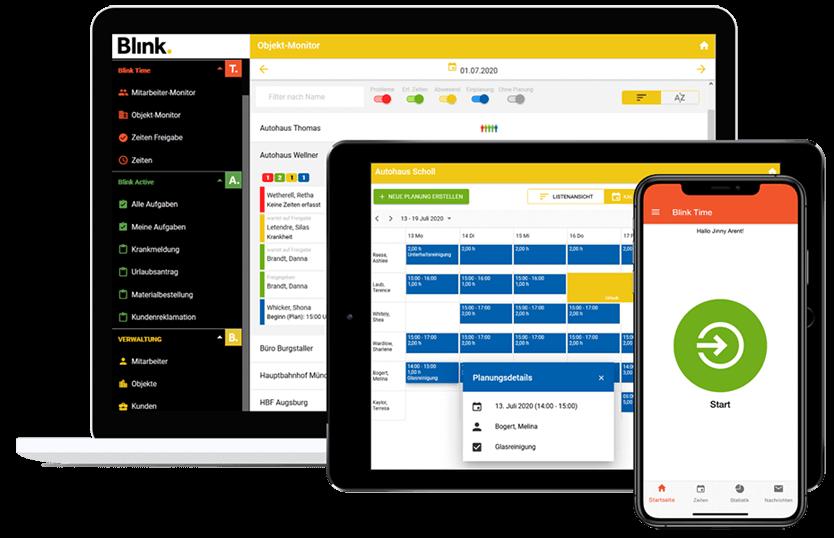 BLINK Zeiterfassung, Checklisten & Aufgabenmanagement
